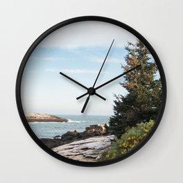 Ocean & Evergreen Wall Clock
