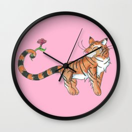 Striped Swooner Wall Clock