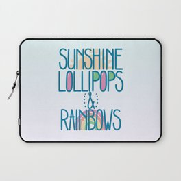 Sunshine Lollipops and Rainbows Laptop Sleeve