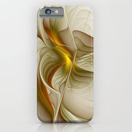 Abstract With Colors Of Precious Metals, Fractal Art iPhone Case