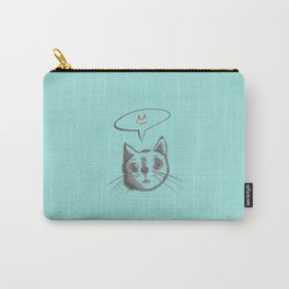 The Cat Says Mu (Blue) Carry-All Pouch