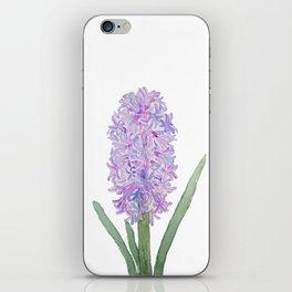 purple pink hyacinth watercolor iPhone Skin