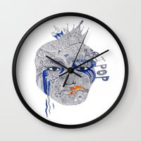 popart Wall Clocks featuring PopArt by Ina Spasova puzzle