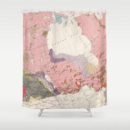 Vintage Geological Map of Canada (1915) Shower Curtain