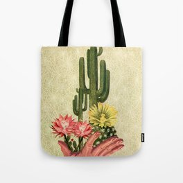 Desert Cacti Handled Delicately Tote Bag