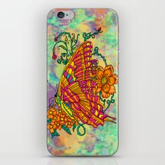 Tie Dyed Butterfly iPhone & iPod Skin