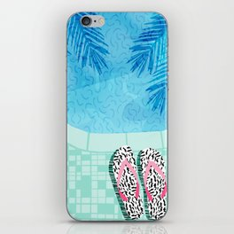 Go Time - resort palm springs poolside oasis swimming athlete vacation topical island summer fun iPhone Skin
