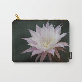 Beautiful Pale White Pink Echinopsis Oxygona Cactus Flower Carry-All Pouch