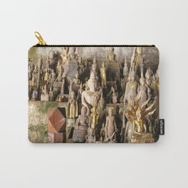 Buddha statues, Pak Ou Caves, Laos Carry-All Pouch