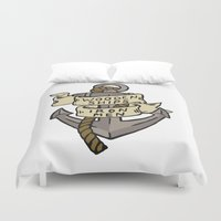 ships Duvet Covers featuring WOODEN SHIPS & IRON MEN by ANOMIC DESIGNS