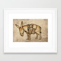 donkey Framed Art Prints featuring Donkey by Adam Metzner