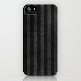 Black & Gray Velvet Stripe Pattern iPhone Case