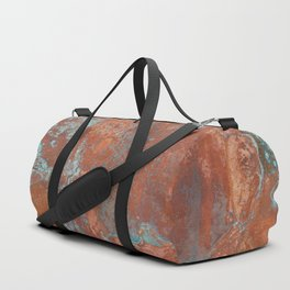 Tarnished Metal Copper Texture - Natural Marbling Industrial Art Duffle Bag
