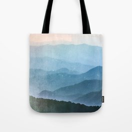 Great Smoky Mountain National Park Sunset Layers - Nature Photography Tote Bag