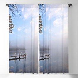 The Adirondacks: Misty October Morning Blackout Curtain