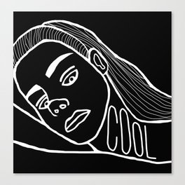 She's a Cool Girl Canvas Print