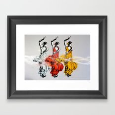 Las tres bailarinas Framed Art Print