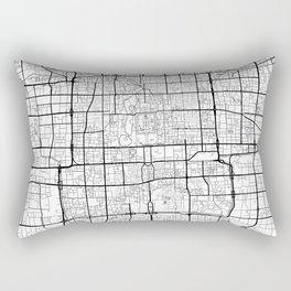 Beijing Map White Rectangular Pillow