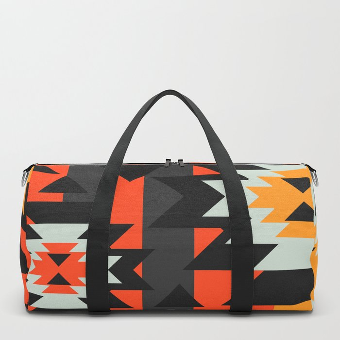 Aztec geometry Duffle Bag