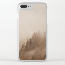 FOG IN THE MORNING Clear iPhone Case
