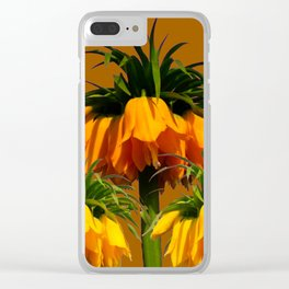 CARAMEL COLOR YELLOW CROWN IMPERIAL FLOWERS Clear iPhone Case