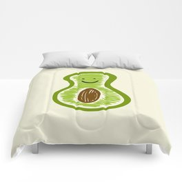 Smiling Avocado Food Comforters
