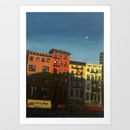 Half Moon Over Chelsea Art Print