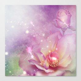 Wonderful flowers in soft purple colors Canvas Print
