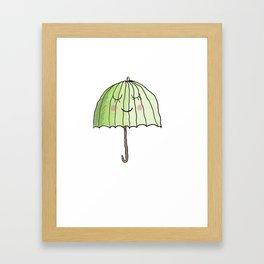 cute UMBRELLA Framed Art Print