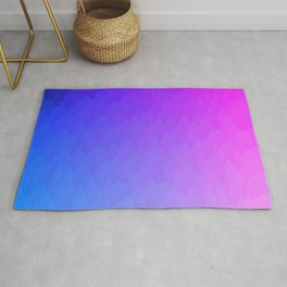 Purple, blue, and pink ombre flames Rug