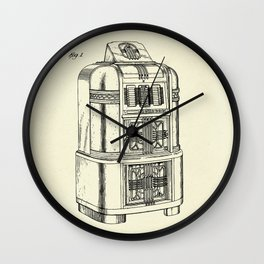 Phonograph Cabinet-1940 Wall Clock