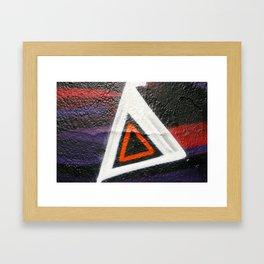 Double Triangle  Framed Art Print