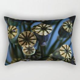 Poppy Flower Pods Bouquet Rectangular Pillow