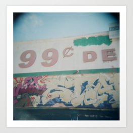 99 cents Art Print