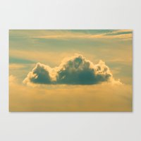 castle in the sky Canvas Prints featuring Castle In The Sky by Faded  Photos