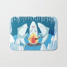 A Shiver of Sharks Bath Mat
