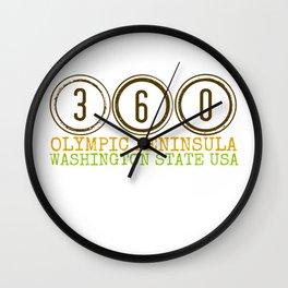 360 Olympic Peninsula Wall Clock