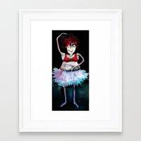 ballerina Framed Art Prints featuring Ballerina by clemm