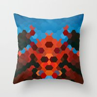 crab Throw Pillows featuring CRAB by ED design for fun