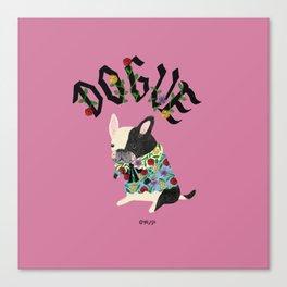 Dogue_French Bullldog_Pink Canvas Print