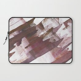 Wine brown abstract Laptop Sleeve