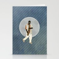saxophone Stationery Cards featuring Saxophone Musician by Aquamarine Studio