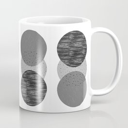 Geometric Circles in B&W Coffee Mug