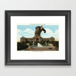 The King of Austin Framed Art Print