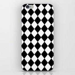 HARLEQUIN BLACK AND WHITE PATTERN #2 iPhone Skin