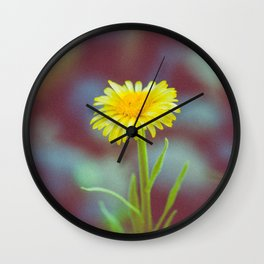 yellow bloom Wall Clock