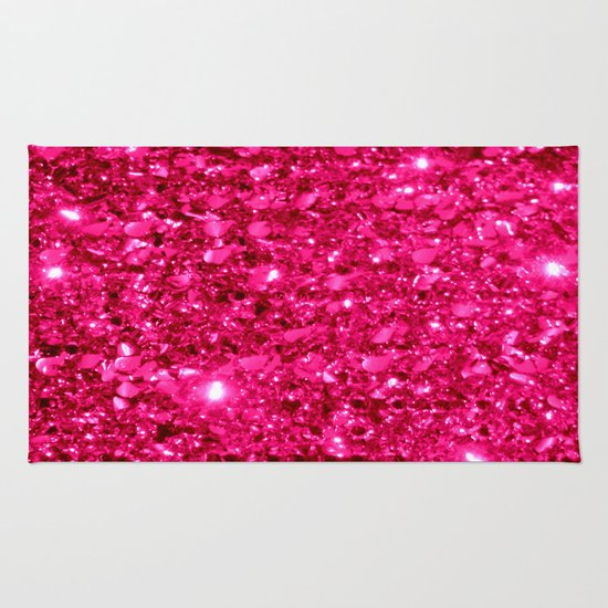 SparklE Hot Pink Rug By 2sweet4words Designs