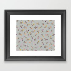 small vintage tulips Framed Art Print