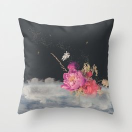 Space Florist Throw Pillow