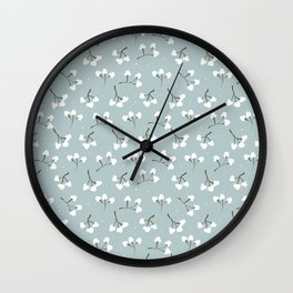 Minimalistic print with cotton 2.  Wall Clock